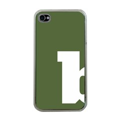 Square Alphabet Green White Sign Apple iPhone 4 Case (Clear)