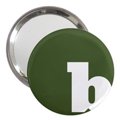 Square Alphabet Green White Sign 3  Handbag Mirrors