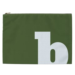 Square Alphabet Green White Sign Cosmetic Bag (XXL)