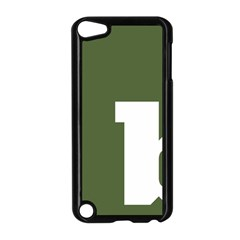 Square Alphabet Green White Sign Apple iPod Touch 5 Case (Black)
