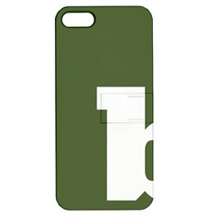 Square Alphabet Green White Sign Apple iPhone 5 Hardshell Case with Stand