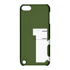 Square Alphabet Green White Sign Apple iPod Touch 5 Hardshell Case with Stand