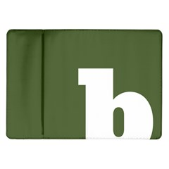 Square Alphabet Green White Sign Samsung Galaxy Tab 10.1  P7500 Flip Case