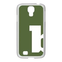 Square Alphabet Green White Sign Samsung Galaxy S4 I9500/ I9505 Case (white)