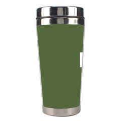 Square Alphabet Green White Sign Stainless Steel Travel Tumblers
