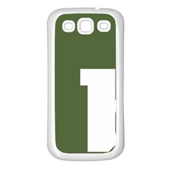 Square Alphabet Green White Sign Samsung Galaxy S3 Back Case (White)