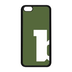 Square Alphabet Green White Sign Apple iPhone 5C Seamless Case (Black)