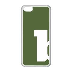 Square Alphabet Green White Sign Apple iPhone 5C Seamless Case (White)
