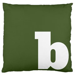 Square Alphabet Green White Sign Large Flano Cushion Case (One Side)