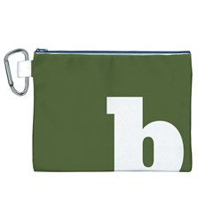 Square Alphabet Green White Sign Canvas Cosmetic Bag (XL)