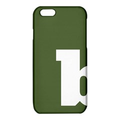 Square Alphabet Green White Sign iPhone 6/6S TPU Case