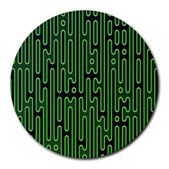 Pipes Green Light Circle Round Mousepads