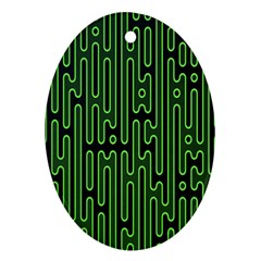 Pipes Green Light Circle Ornament (oval)