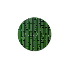Pipes Green Light Circle Golf Ball Marker (10 Pack)