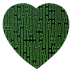 Pipes Green Light Circle Jigsaw Puzzle (Heart)