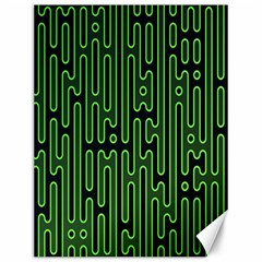 Pipes Green Light Circle Canvas 12  x 16