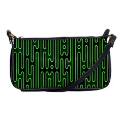 Pipes Green Light Circle Shoulder Clutch Bags