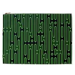 Pipes Green Light Circle Cosmetic Bag (XXL)