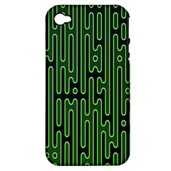 Pipes Green Light Circle Apple iPhone 4/4S Hardshell Case (PC+Silicone)