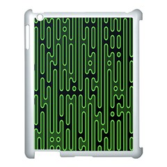 Pipes Green Light Circle Apple iPad 3/4 Case (White)