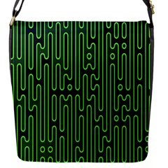 Pipes Green Light Circle Flap Messenger Bag (S)