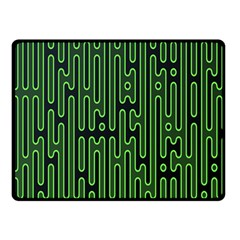 Pipes Green Light Circle Double Sided Fleece Blanket (Small)