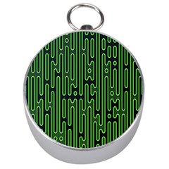 Pipes Green Light Circle Silver Compasses