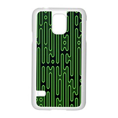 Pipes Green Light Circle Samsung Galaxy S5 Case (White)