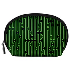 Pipes Green Light Circle Accessory Pouches (Large)