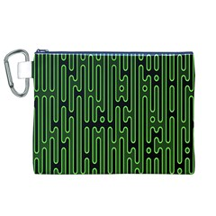 Pipes Green Light Circle Canvas Cosmetic Bag (XL)
