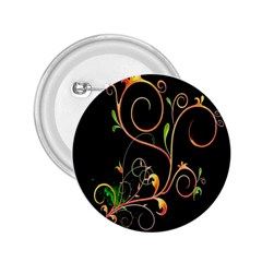 Flowers Neon Color 2.25  Buttons