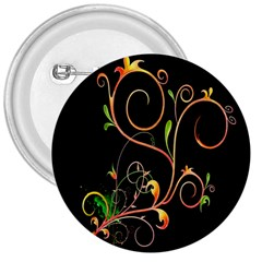 Flowers Neon Color 3  Buttons