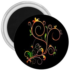 Flowers Neon Color 3  Magnets
