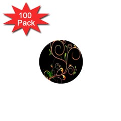 Flowers Neon Color 1  Mini Magnets (100 pack)
