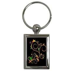 Flowers Neon Color Key Chains (Rectangle)