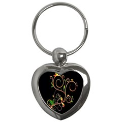 Flowers Neon Color Key Chains (Heart)