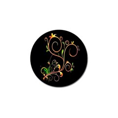 Flowers Neon Color Golf Ball Marker