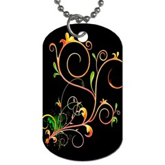 Flowers Neon Color Dog Tag (Two Sides)