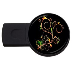Flowers Neon Color USB Flash Drive Round (1 GB)