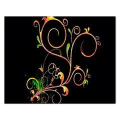 Flowers Neon Color Rectangular Jigsaw Puzzl