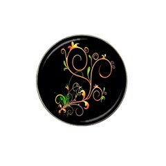 Flowers Neon Color Hat Clip Ball Marker (10 Pack)