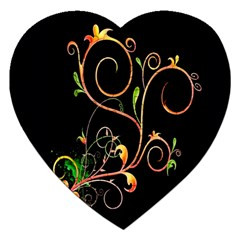 Flowers Neon Color Jigsaw Puzzle (Heart)