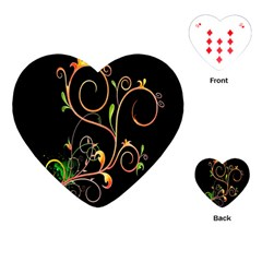 Flowers Neon Color Playing Cards (Heart)