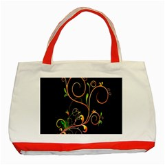 Flowers Neon Color Classic Tote Bag (red)