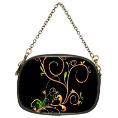 Flowers Neon Color Chain Purses (two Sides)