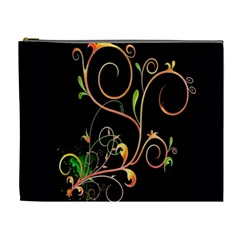 Flowers Neon Color Cosmetic Bag (XL)