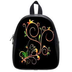 Flowers Neon Color School Bags (small)