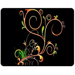 Flowers Neon Color Fleece Blanket (medium)