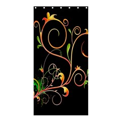 Flowers Neon Color Shower Curtain 36  x 72  (Stall)