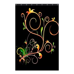Flowers Neon Color Shower Curtain 48  x 72  (Small)